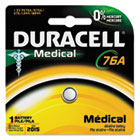 Alkaline Medical Battery, 76A, 1.5V DURPX76A675PK09