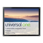 Acrylic Easel Back Magnetic Frame for 8 1/2 x 11 Insert, Black UNV76856