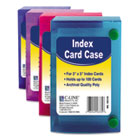 Index Card Case, Holds 100 3 x 5 Cards, Polypropylene, Assorted CLI58335