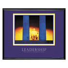 """Leadership"" Framed Motivational Print, 30 x 24 AVT78035"