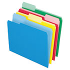 Two-Tone File Folders, 1/3 Cut Top Tab, Letter, Assorted Colors, 24/Pack ESS82300