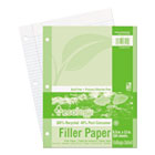 Ecology Filler Paper, 8-1/2 x 11, College Ruled, 3-Hole Punch, WE, 150 Sheets/PK PAC3202