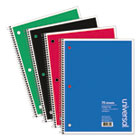 Wirebound Notebook, 8 x 10-1/2, College Ruled, 70 Sheets, Assorted Color Cover UNV66610