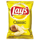 Regular Potato Chips, 1.5 oz Bag, 64/Carton LAY44459