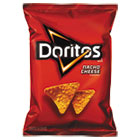 Nacho Cheese Tortilla Chips, 1.75 oz Bag, 64/Carton LAY44375