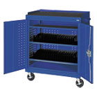 Mobile Tablet Storage Cart, 36w x 24d x 43h, Blue METMTS36243706