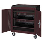 Mobile Tablet Storage Cart, 36w x 24d x 43h, Burgundy METMTS36243703