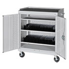 Mobile Tablet Storage Cart, 36w x 24d x 43h, Light Gray METMTS36243705