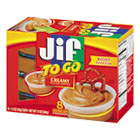 Jif To Go, Creamy Peanut Butter, 1.5 oz Cup, 8/Box SMU24136