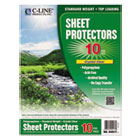 Sheet Protectors, Clear, Top Loading, Standard Wt, Poly, 11 x 8 1/2, 10/PK CLI04917