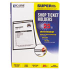 Shop Ticket Holders, Stitched, Both Sides Clear, 9 x 12, 25/BX CLI46912