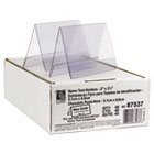 Tent Card Holder, 2 x 3 1/2, Clear, 40/Box CLI87537
