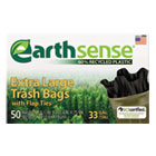Recycled Can Liners, 33gal, . 7mil, 32.5 x 40, Black, 50 Bags/Box WBIGES6FTL50