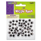 Round Black Wiggle Eyes, 10mm, Black, 50/Pack CKC344102