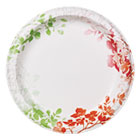 "Modern Romance Heavyweight Plates, 10"" Dia, White/Red/Green, 170/Carton DXE827252"