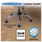 Wood-Look Chair Mat for Hard Floors, 36 x 48, Natural ESR119386
