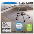 "Foldable 36x48 Rectangle Chair Mat, Task Series for Carpet up to 1/4"" ESR120082"