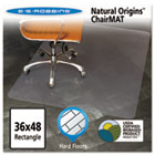 Natural Origins Chair Mat For Hard Floors, 36 x 48, Clear ESR143007