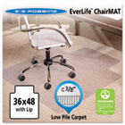 "36x48 Lip Chair Mat, Multi-Task Series AnchorBar for Carpet up to 3/8"" ESR128073"