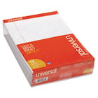 Perforated Edge Writing Pad, Legal Ruled, Letter, White, 50-Sheet, Dozen UNV20630