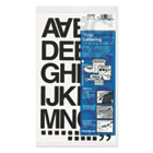 "Press-On Vinyl Letters & Numbers, Self Adhesive, Black, 1 1/2""h, 37/Pack CHA01040"
