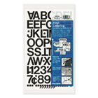 "Press-On Vinyl Letters & Numbers, Self Adhesive, Black, 1""h, 88/Pack CHA01030"