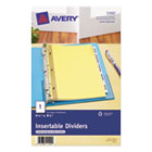 WorkSaver Insertable Tab Index Dividers, 5-Tab, 8-1/2 x 5-1/2, Clear, 1/Set AVE11102