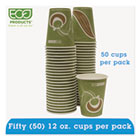 Evolution World 24% PCF Hot Drink Cups, Sea Green, 12oz, 50/Pack ECOEPBRHC12EWPK