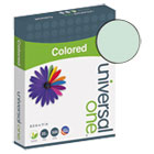 Colored Paper, 20lb, 8-1/2 x 11, Green, 500 Sheets/Ream UNV11203