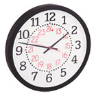 "Two-Color Numerals Wall Clock, 13-1/2"", Black UNV11431"