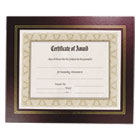 Leatherette Document Frame, 8-1/2 x 11, Burgundy, Pack of Two NUD21200
