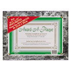 Award-A-Plaque Document Holder, Acrylic/Plastic, 10-1/2 x 13, Black NUD18815M