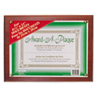 Award-A-Plaque Document Holder, Acrylic/Plastic, 10-1/2 x 13, Mahogany NUD18813M