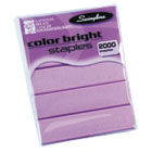 Color Bright Staples, Pink, 2,000/Box SWI99900