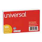 Ruled Index Cards, 3 x 5, White, 100/Pack UNV47210