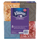 KLEENEX Ultra Soft Facial Tissue, 3-Ply, White, 8.75 x 4.5, 75/Box, 4 Box/Pack KIM25830