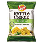 Kettle Cooked Jalapeno & Cheddar Chips, 1.375 oz Bag, 64/Carton LAY25111