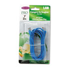 CAT5e Snagless Patch Cable, RJ45 Connectors, 7 ft., Blue BLKA3L79107BLUS