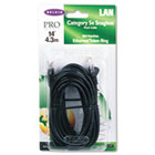 CAT5e Snagless Patch Cable, RJ45 Connectors, 14 ft., Black BLKA3L79114BLKS
