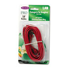 CAT5e 10/100 Base-T RJ45 Patch Cable, Snagless, 14 ft., Red BLKA3L79114REDS