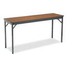 Special Size Folding Table, Rectangular, 60w x 18d x 30h, Walnut/Black BRKCL1860WA