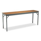 Special Size Folding Table, Rectangular, 72w x 18d x 30h, Walnut/Black BRKCL1872WA