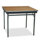 Special Size Folding Table, Square, 36w x 36d x 30h, Walnut/Black BRKCL36WA