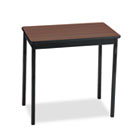 Utility Table, Rectangular, 30w x 18d x 30h, Walnut/Black BRKUT183030WA