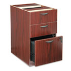BL Laminate Three-Drawer Pedestal File, 15-5/8w x 21-3/4d x 27-3/4h, Mahogany BSXBL2162NN