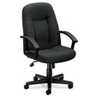 VL601 Series Executive Mid-Back Swivel/Tilt Chair, Charcoal Fabric/Black Frame BSXVL601VA19
