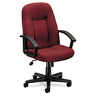 VL601 Series Executive Mid-Back Swivel/Tilt Chair, Burgundy Fabric/Black Frame BSXVL601VA62