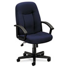 VL601 Series Executive Mid-Back Swivel/Tilt Chair, Navy Fabric/Black Frame BSXVL601VA90