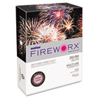 FIREWORX Colored Paper, 20lb, 8-1/2 x 11, Cherry Charge, 500 Sheets/Ream CASMP2201CHE