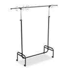 "Adjustable Mobile Chart Stand, 48"" to 75"" High, Steel, Black CDPCD7550"